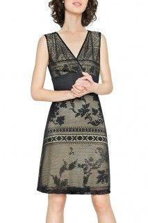 Desigual černé krajkové šaty Elga - 2144 Kč