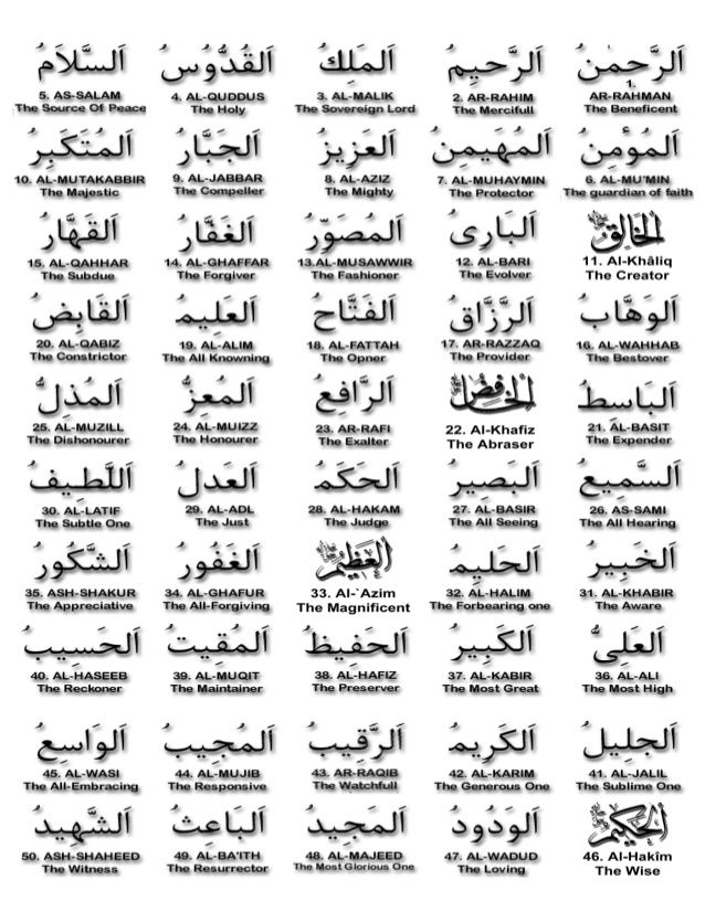 Allah 99 Names Pdf Allah Names Beautiful Names Of Allah Allah