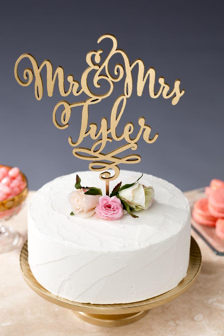 Custom wedding cake topper by Better Off Wed www.betteroffwed.co