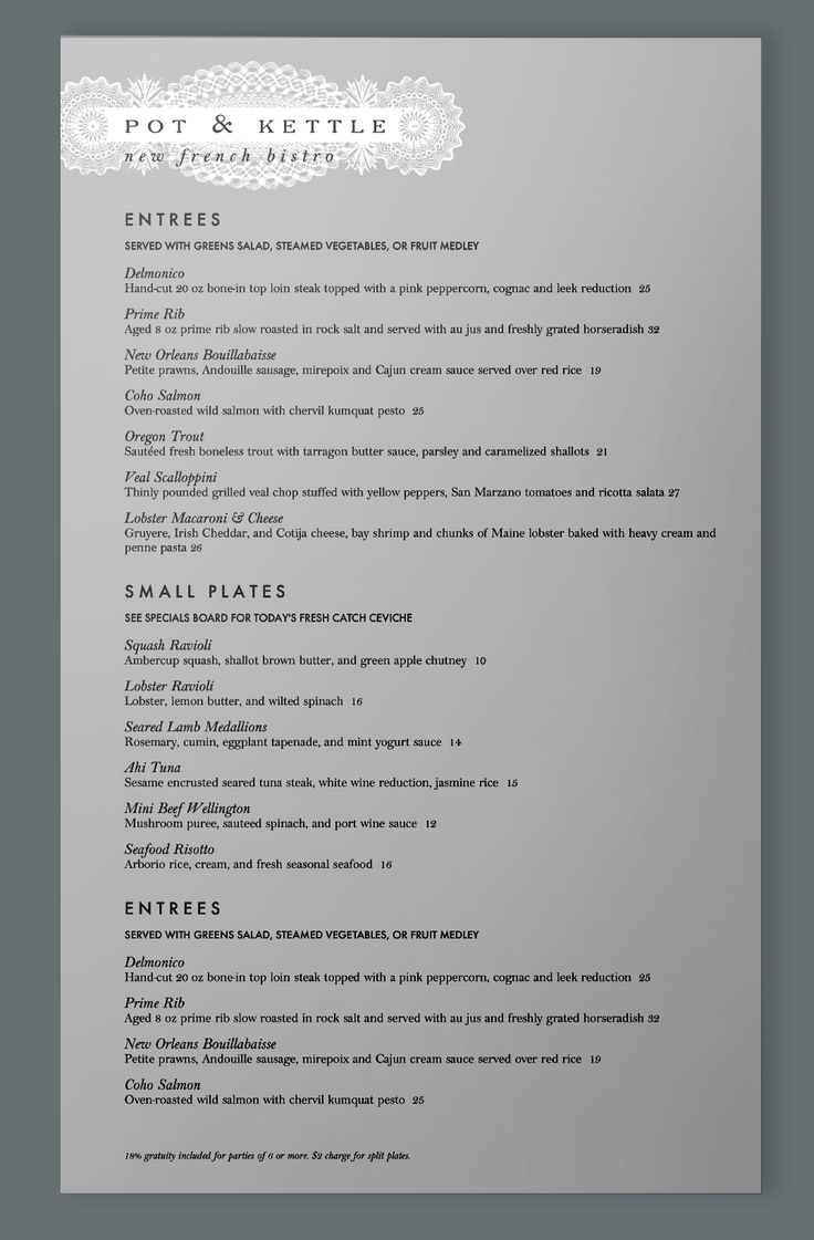 menus restaurant menu ...
