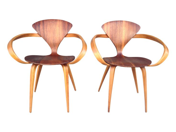 pair of norman cherner pretzel chair by plycraft on chairishcom
