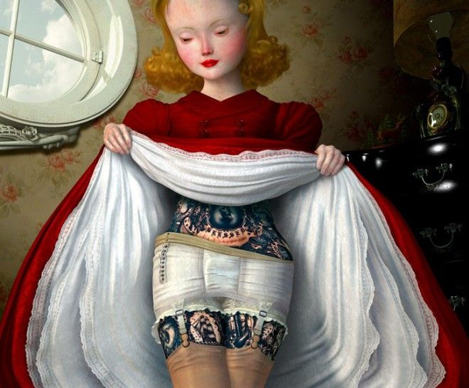 DISTURBING PAINTS BY CAESAR - Ray Caesar, who suffers from Dissociative Identity Disorder, (monarch slaves have dissociative identity disorder from the abuse they went thrue) uses his art as an outlet to express trauma. All his paintings have signs of programming.