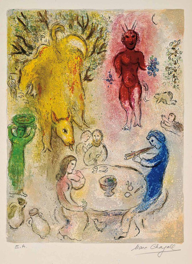 Chagall, Pan's Banquet (Daphnis & Chloé, M.331)