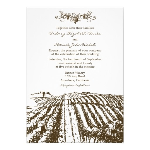 37 best Vineyard Wedding Invitations images on Pinterest