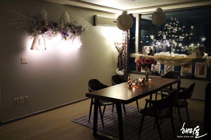 크리스마스 장식 소품 DIY로 신혼집 인테리어 + 짧은 온라인 집들이 : 네이버 블로그