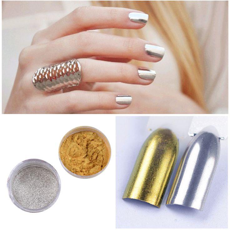 1 g/doos Spiegel Nail Glitter Mix Poeder Stralende Oogschaduw Poeder Stof Nail Art DIY Chrome nail poeder Pigment decoratie M02434