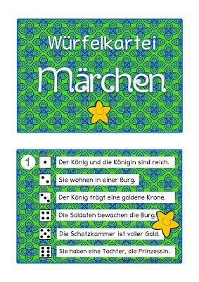 Sonniges Klassenzimmer: Würfelkartei Märchen