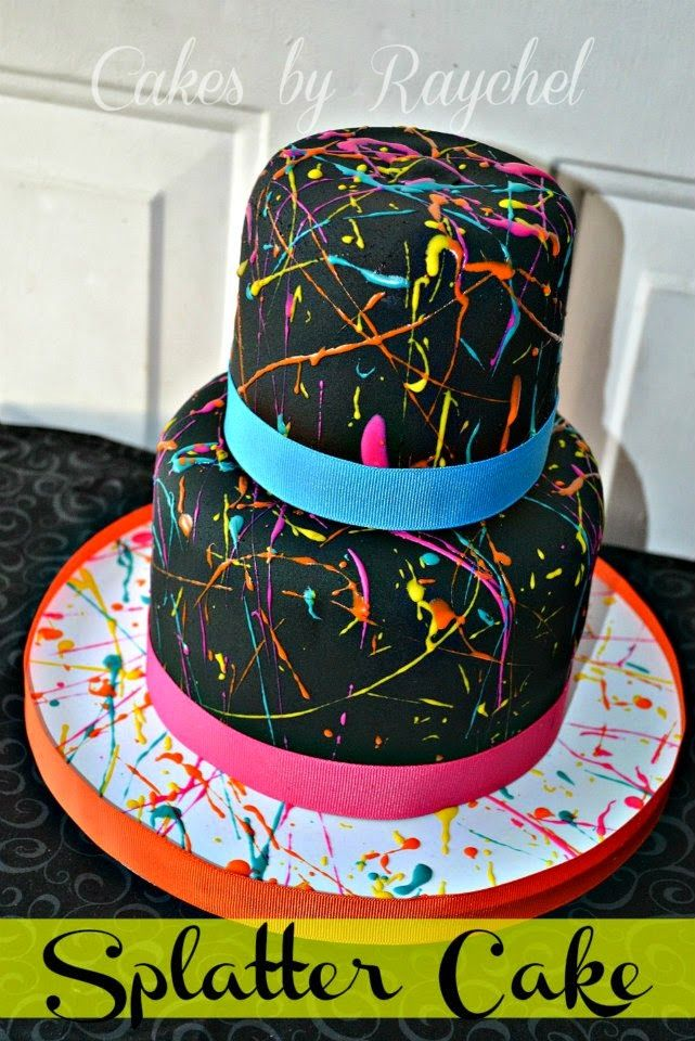 My Creative Way: Paint Splatter Cake. DIY TIPS