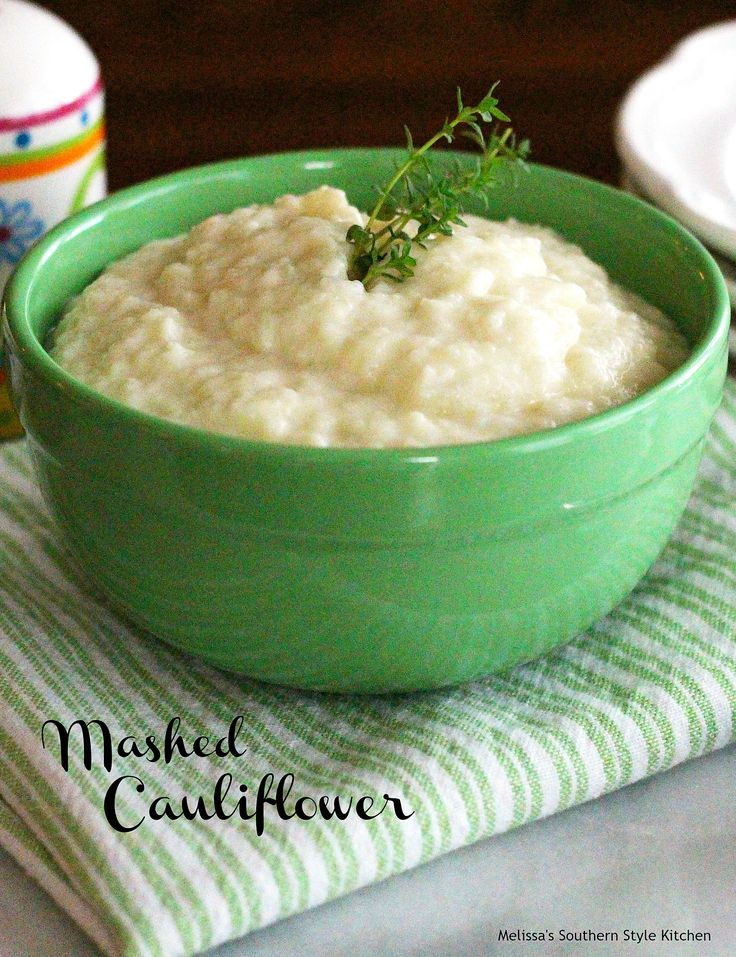 "Mashed Cauliflower - People who are watching their carb intake love these ""faux"" mashed potatoes. Mashed cauliflower isn't only a fantastic substitute for mashed potatoes but, it's super tasty and simple to prepare."