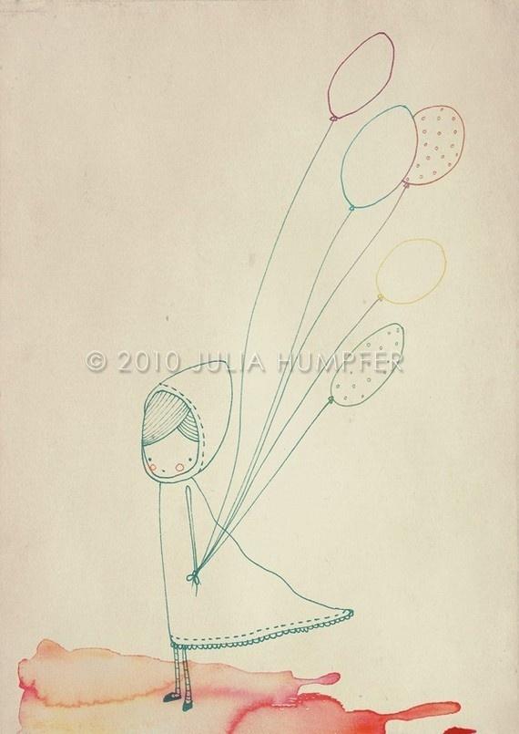 : Balloon Balloon, Balloon Drawings, Crafts Ideas, Balloon Girls, Illustrations Books, Card, Bookmarks Pictures, Balloon Illustrations, Girls Pictures