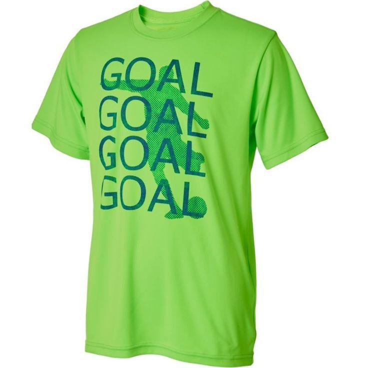 Umbro Boys' Goal Goal Goal Graphic Soccer T-Shirt, Size: Medium, Android Green