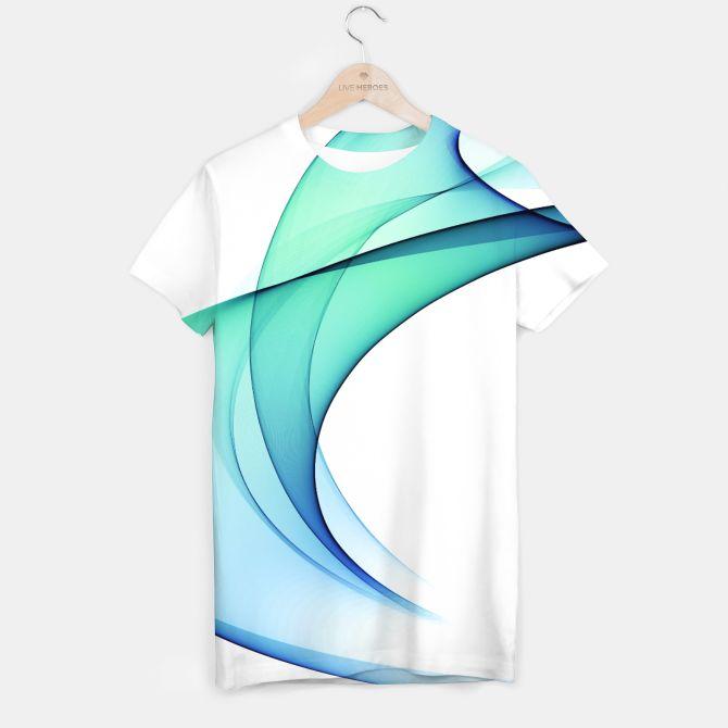 Blue Wave T-shirt, Live Heroes  @liveheroes #watercolor #blue #violet #shirt #apparel #fashion #woman #clothes #fashionblogger #liveheroes #OksanaAriskina  @photography_art_decor