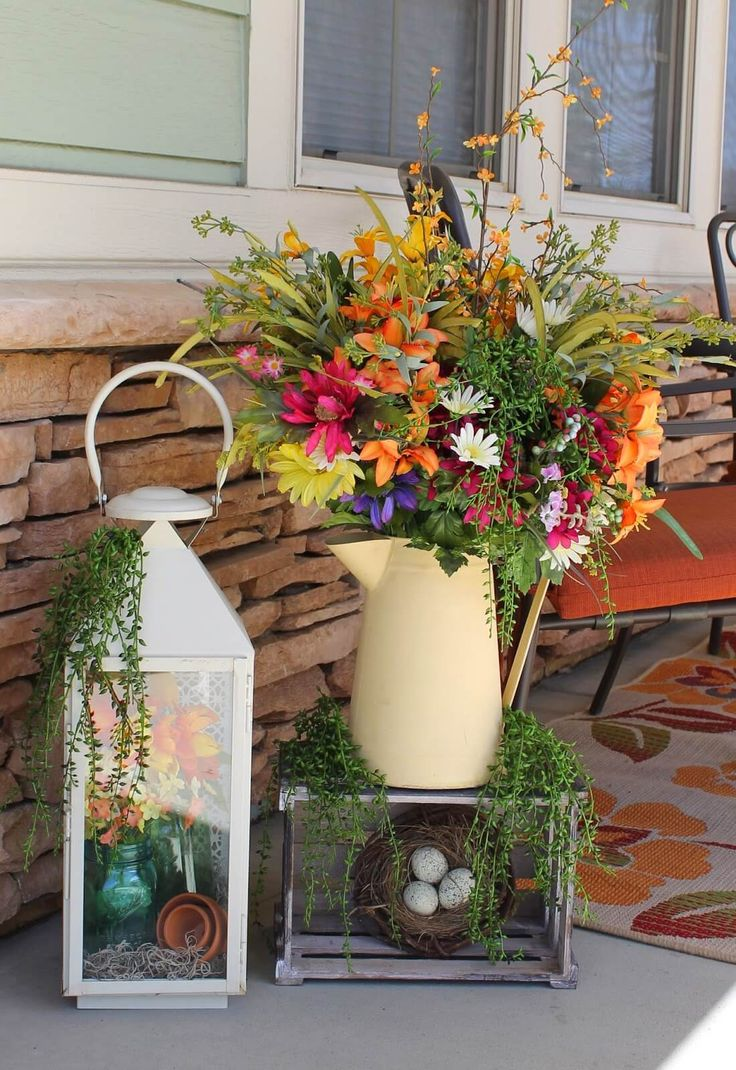 30 Rustic Spring Porch Decor Ideas to