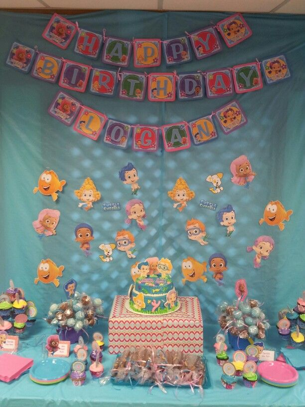 Bubble guppies dessert table. 17 Best images about Bubble Guppies Party on Pinterest   Bubble