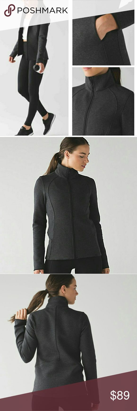 Lululemon Insculpt Jacket sz 6 Brand new without tags. Lululemon Insculpt jacket in a size 6. Never worn, the sleeve are too long on me.   Flash was on my camera so jacket appears lighter in color than it actually is...more like stock photos. lululemon athletica Jackets & Coats