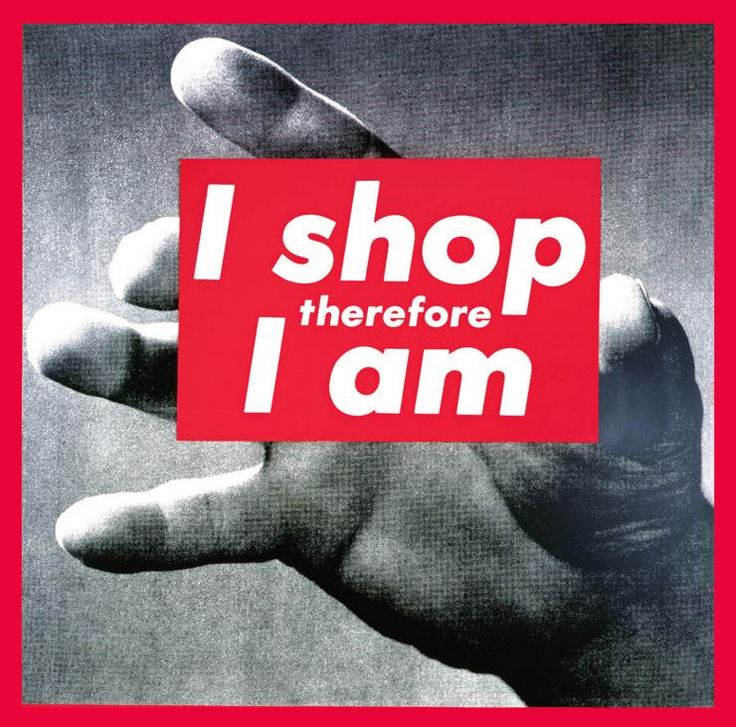 ICONS: Barbara Kruger, 'I shop therefore I am'   ACCA