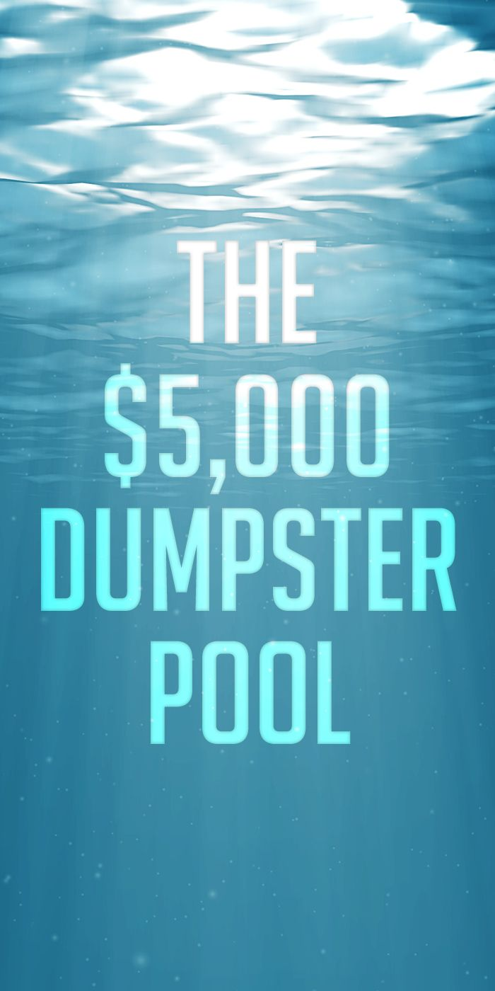 Find out how an architect took a roll off dumpster and made a fully-functional swimming pool. The fun came with a cost. (w/ video)