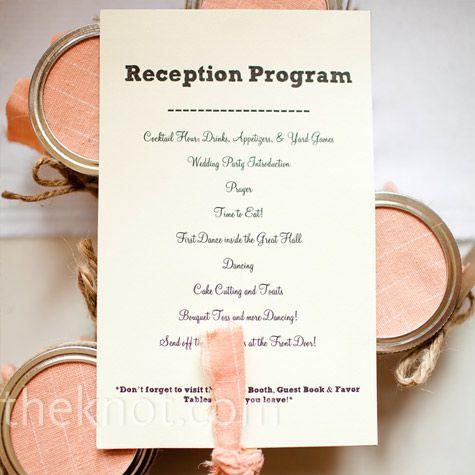 Awesome Order Of A Wedding Reception Ideas - Styles & Ideas 2018 ...