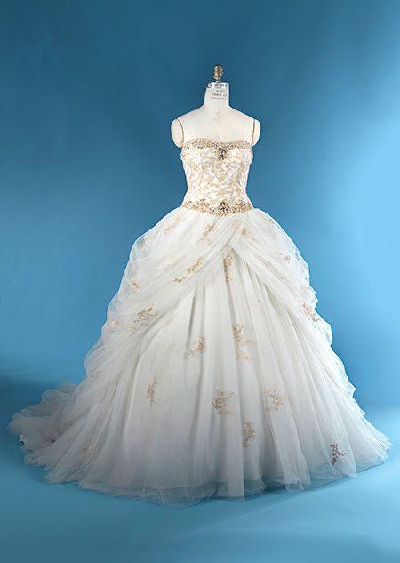 262 best Disney Wedding Dresses images on Pinterest | Alfred angelo ...