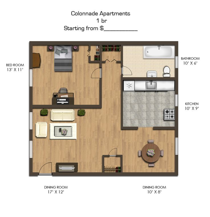 one bedroom floor plan colonnade apartments in southeast washington dc
