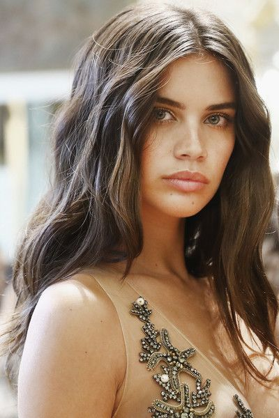 Model Sara Sampaio poses backstage prior to the Alberta Ferretti Limited Edition Fall/Winter 2016-2017 show as part of Paris Fashion Week on July 3, 2016 in Paris, France.
