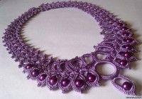 Вязаное ожерелье - вязание украшений