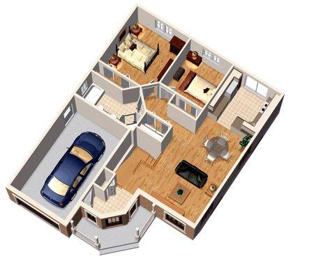 51 best Plan de maisons images on Pinterest Small home plans - plan maison plain pied 80m2