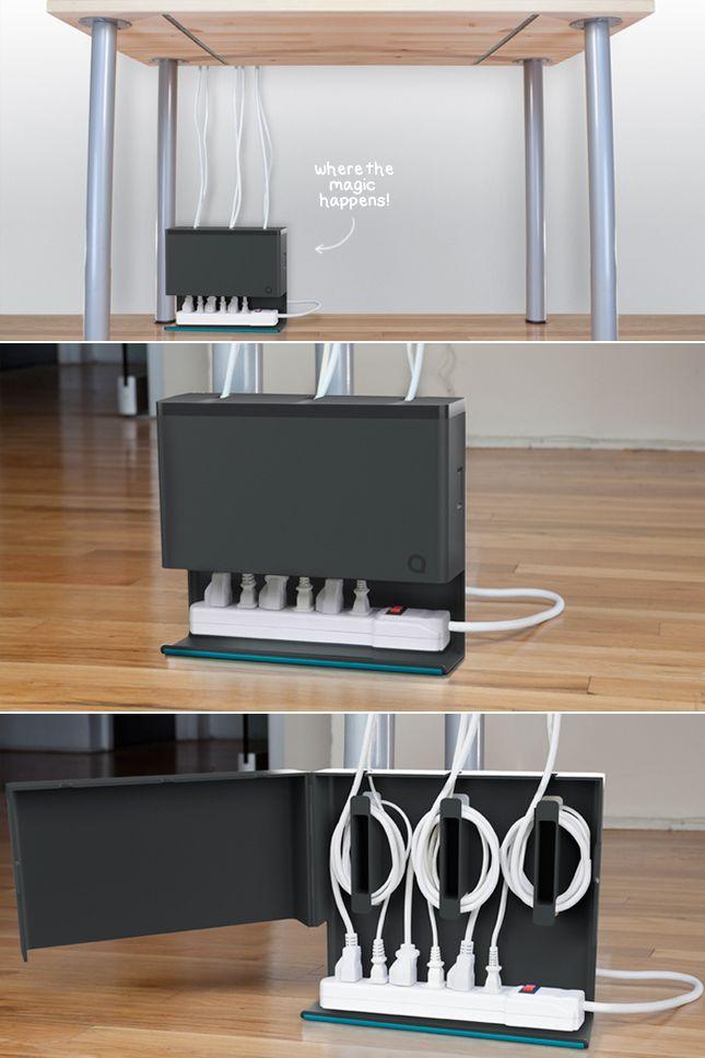 Chargeurs, câbles USB et écouteurs s'entremêlent toujours sur notre bureau… rien de plus enrageant.Heureusement, il existe des produits et des trucs pour nous aider à nous débarrasser de nos fils! (ou du moins à les organiser). ÇA VA COMME SUIT: 1)Clips pour câble: Solution parfaite pour les fils qu'on utilise souvent mais qu'on veut garder proche comme on les branche et débranche souvent. (offert en différentes couleurs, paquet de 6, 8$) 2.Organisateur de fil «PowerCurl»: Offert…