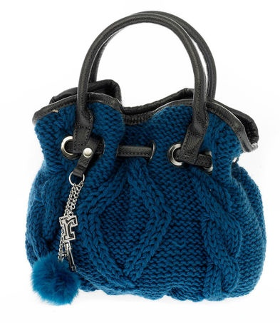 cable-knit wool bucket - Rb Roccobarocco #bags #madeinitaly