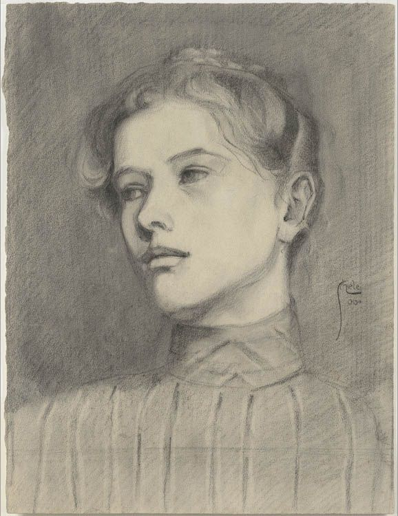 Portrait of a Girl, Egon Schiele 1906