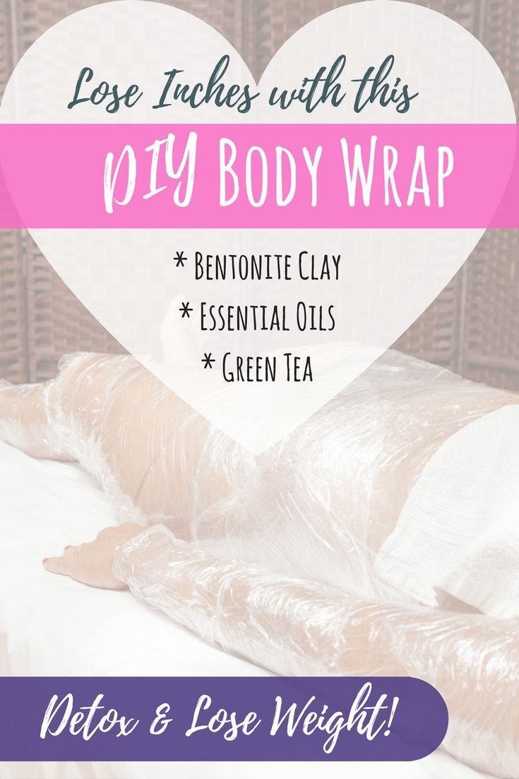 Skip toxic ingredients from in-home kits and don't pay spa prices. Mix up your own DIY Body Wrap to help detox and lose inches using all-natural ingredients. #bodywraps #diywrap #loseweightfast #loseweightfastandeasy #detoxification #EssentialOils #DIYbeauty #diy