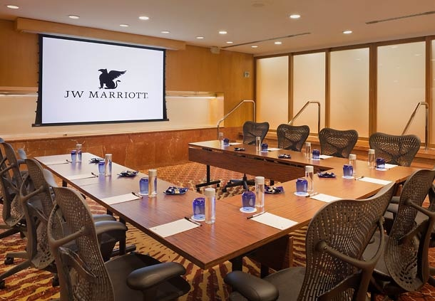 Sutter Meeting Room at the JW Marriott San Francisco Union Square hotel. No matter what you have on the agenda, our luxurious Pacific Conference Center is THE place to be. Our state-of-the art meeting facilities include LCD and LED projectors and large image screens built into conference rooms, plus in-wall AV controls, ergonomic chairs and work tables. When the stakes are high, we can help you get down to business.