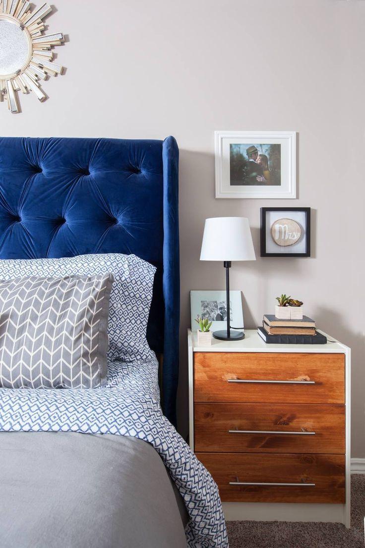 Nightstand styling. Master bedroom nightstand. Modern elcectic.  Mid century modern nightstand.  suzannekryton.com