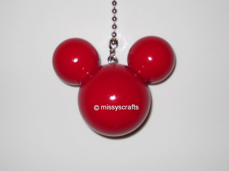 Mejores 38 imgenes de mickey mouse room en pinterest habitacin red mickey mouse light ceiling fan pull chain by missyscrafts aloadofball Choice Image