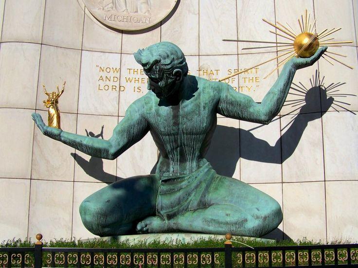 Pictures of Detroit Michigan | Spirit of Detroit Statue ( Photo Source )