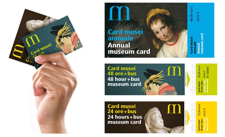 Musei di Genova, card, graphic design