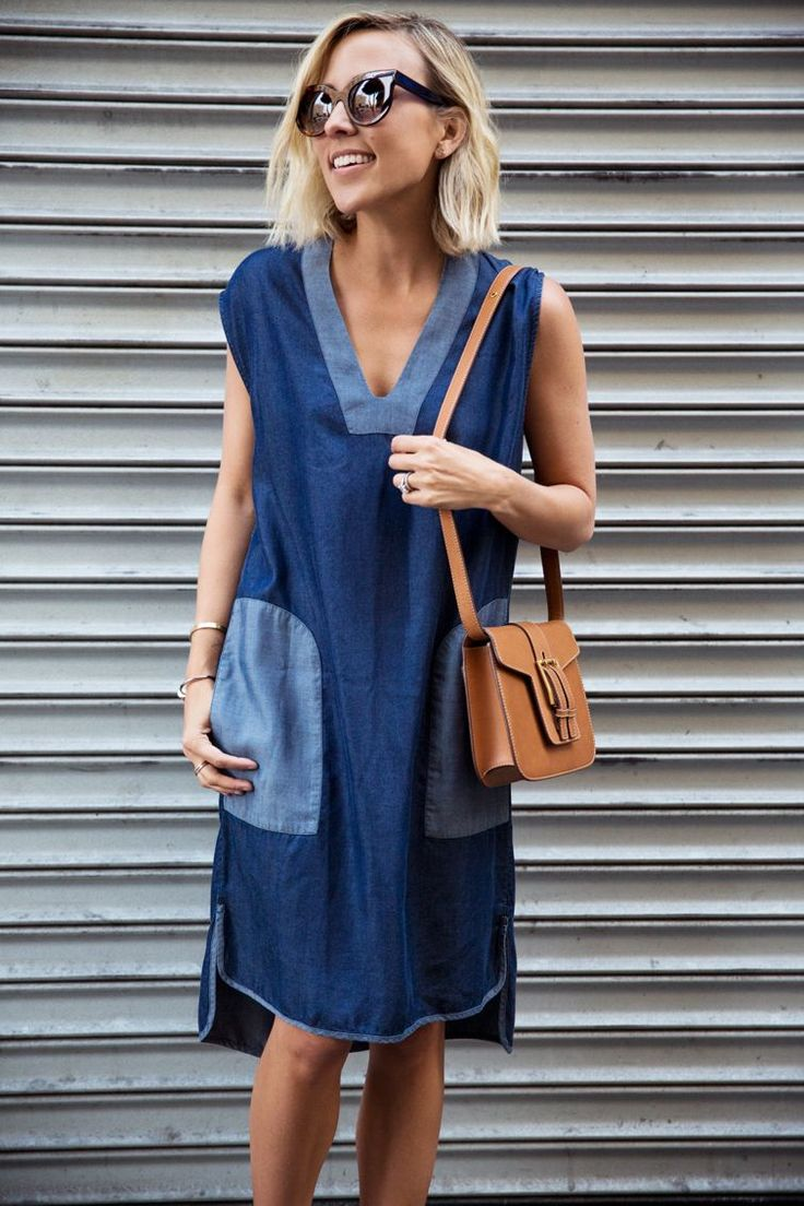 A denim dress is an easy summer go-to!