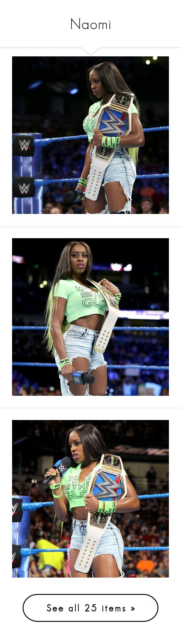 Naomi by amysykes-697  liked on Polyvore featuring home home decor wwe n