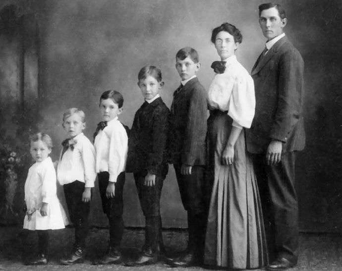 The original awkward family photo circa 1800s black and whiteblack
