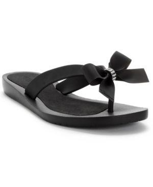 Guess Tutu Bow Flip Flops - Black 8M