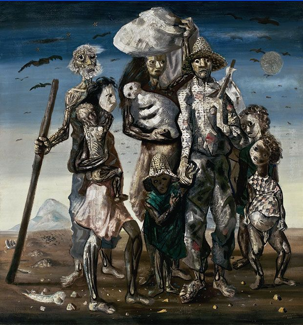 Pintura da série Os Retirantes, de Candido Portinari, que integra a mostra em exibição no Masp (Foto: Divulgação)
