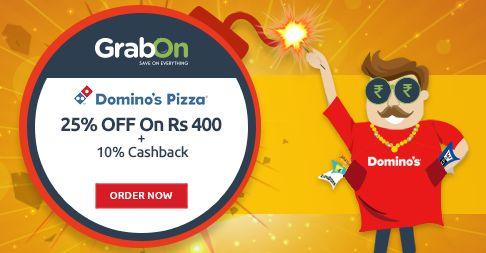 Celebrate #Diwali With Pizza - Get 25% Off + 10% Cashback @ Domino's. http://www.grabon.in/diwali-offers/ Yeh Diwali Hogi #BachatWaliDiwali
