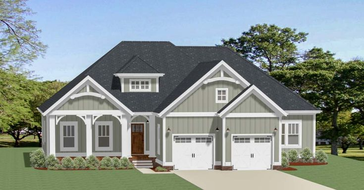 Craftsman House Plan with Bonus Room - 46329LA | Architectural Designs - House Plans