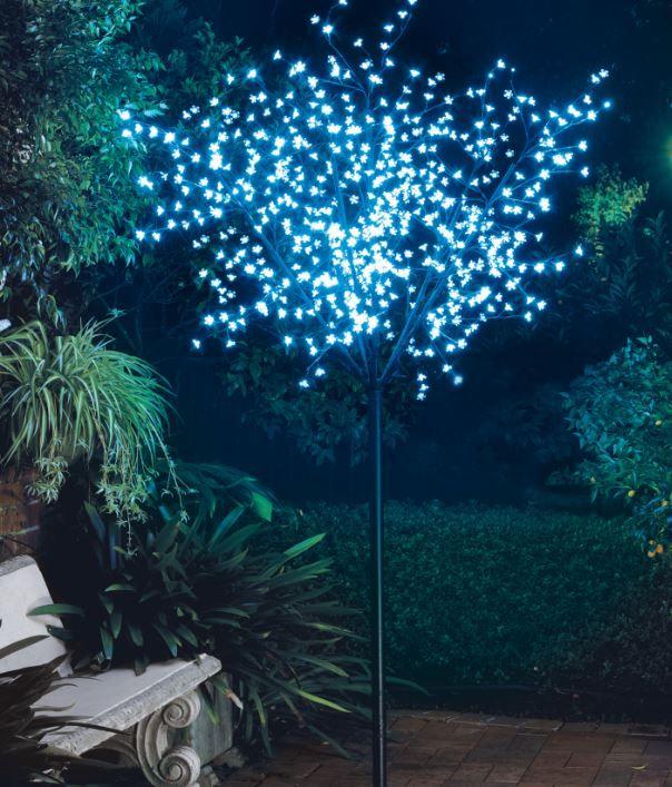 Create a festive ambience in your backyard #treelights #christmas