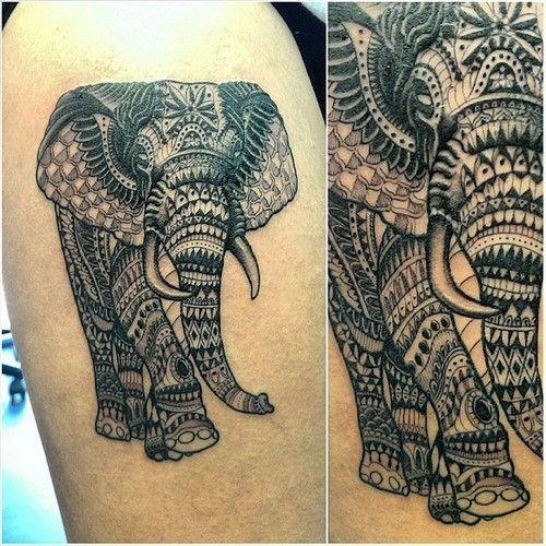 lace lizard tattoo ornate elephant by nell usedntattooed at tattoo studio 81 preston. Black Bedroom Furniture Sets. Home Design Ideas