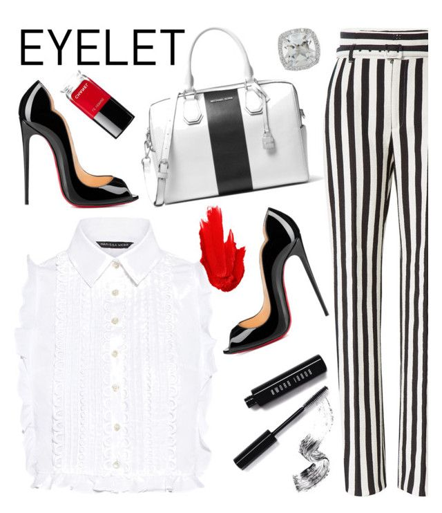 Peek-A-Boo:Eyelet by anilia on Polyvore featuring polyvore fashion style Marissa Webb Dolce&Gabbana Christian Louboutin MICHAEL Michael Kors Frederic Sage Bobbi Brown Cosmetics Maybelline Chanel clothing eyelet
