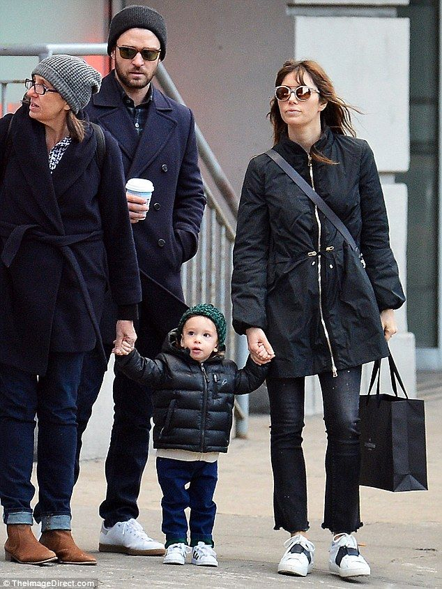 Back with their boy: The 34-year-old actress and the singer/actor, 35, then reunited with ...