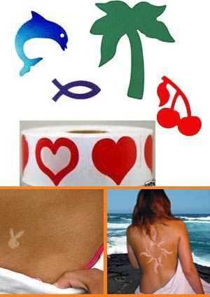 tanning stickers