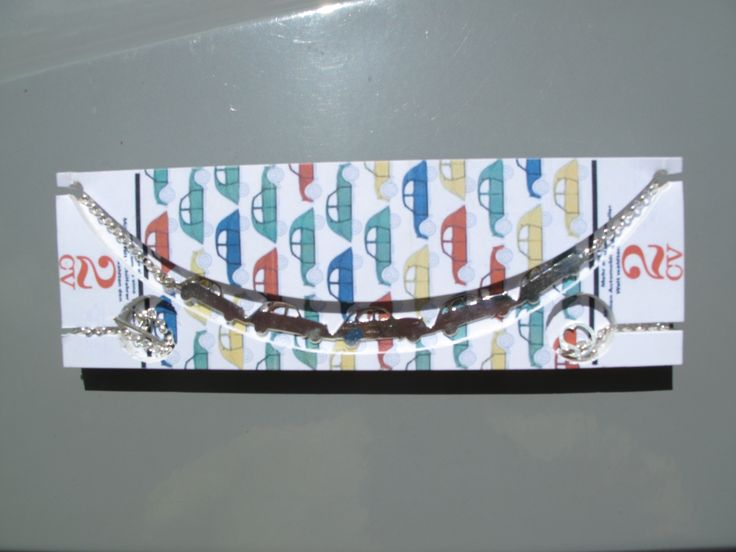 '2CVs' Neckpiece Handcrafted in Stirling Silver by philwarddesign.com.au Custom Citroen jewellery made to order