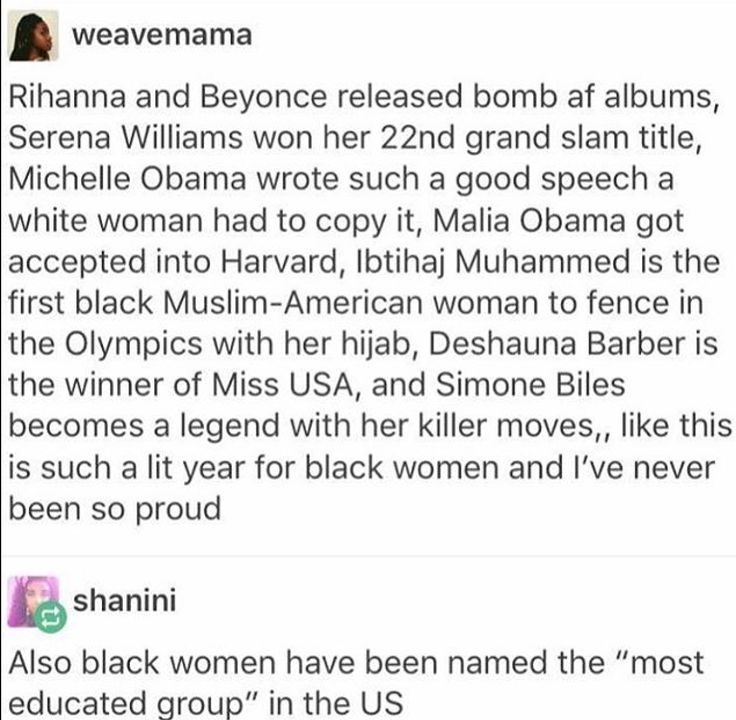 I love seeing stuff like this. Skin color should not be a pigeon hole, and for women of color who are even more oppressed than white women it should not mean they can't be outstanding.